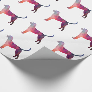 English Foxhound Geometric Pattern Silhouette Wrapping Paper
