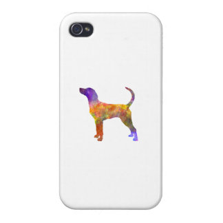 English Foxhound in watercolor Covers For iPhone 4