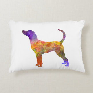 English Foxhound in watercolor Decorative Pillow