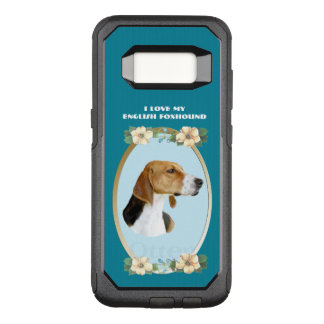 English Foxhound on Teal Floral OtterBox Commuter Samsung Galaxy S8 Case