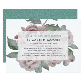 English Garden Bridal Shower Invitation