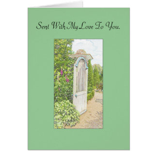 English Garden Card - sent with my love to you.