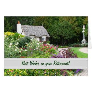 English Garden Retirement Card