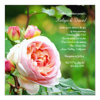 English Garden Rose Wedding Invitation