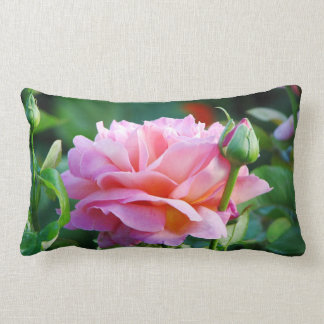 English Garden Tea Rose Lumbar Pillow