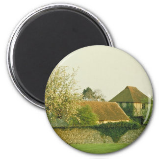 English gardens 2 inch round magnet