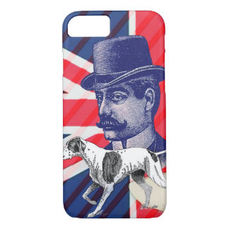 English Gentleman Telephone Booth union jack flag iPhone 8/7 Case