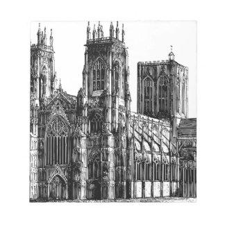 English Gothic church Notepad