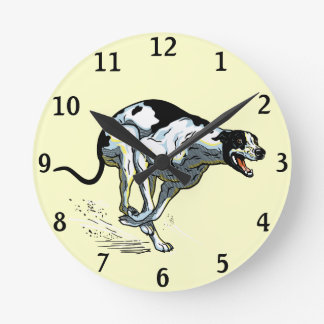 english greyhound wall clocks