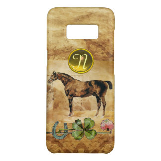 ENGLISH HORSE,HORSESHOE,CLOVER Monogram Parchment Case-Mate Samsung Galaxy S8 Case