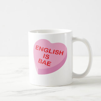 English is Bae Funny Teacher Valentine's Day Coffee Mug