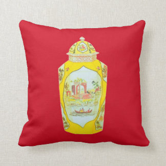 ENGLISH JAR PILLOW RED