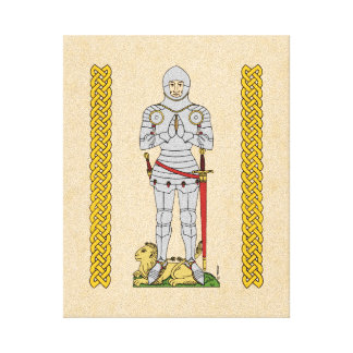 English Knight, Circa 1430 Canvas Print