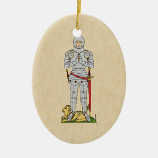 English Knight, Circa 1430 Ceramic Ornament