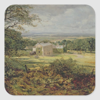 English landscape with a house 19th century square stickers