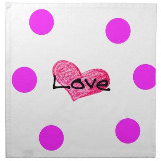 English Language of Love Design Napkin