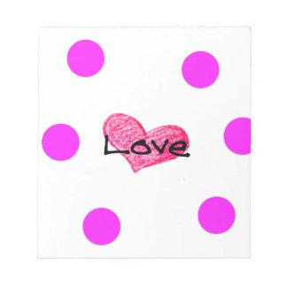 English Language of Love Design Notepad