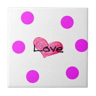 English Language of Love Design Tile