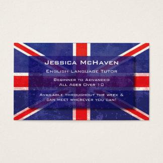 English Language Tutor Business Card