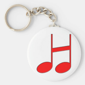 "English Letter ""H""  Created From Musical Notes Basic Round Button Keychain"