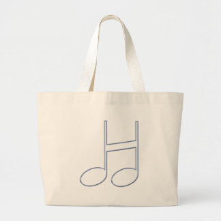 "English Letter ""H""  Created From Musical Notes Large Tote Bag"