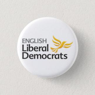 English Liberal Democrats 1 Inch Round Button