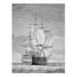 English Line-of-Battle Ship, 18th century Postcard