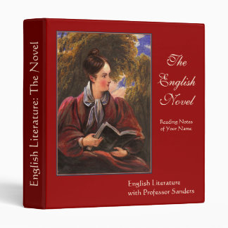English Literary Lady Vintage Literature Studies Binder