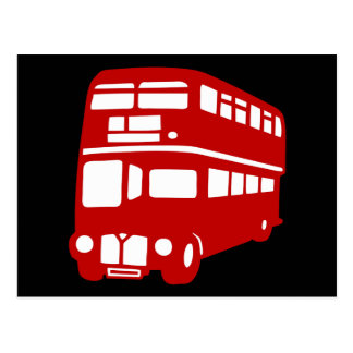 english london bus postcard