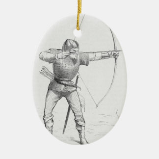 English Longbowman Ceramic Ornament