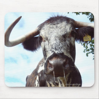 English Longhorn Cattle Cow Mousepad