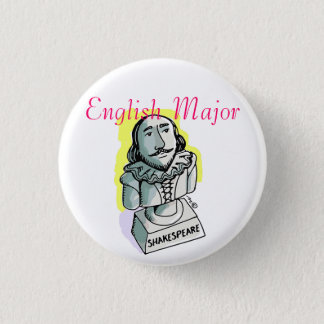 English Major Shakespeare Button