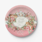 English Manor Vintage Rose Tea Party Bridal Shower Paper Plate