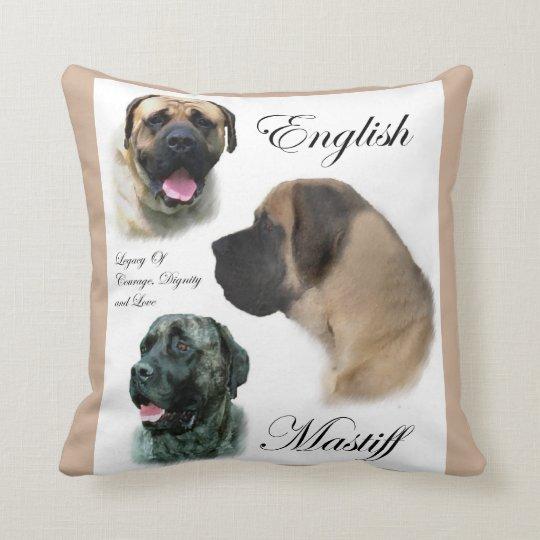 English Mastiff Art Throw Pillow