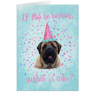 English Mastiff Birthday Card