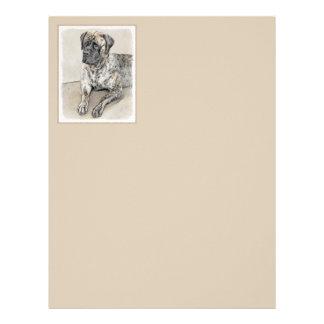 English Mastiff (Brindle) Letterhead