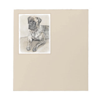 English Mastiff (Brindle) Notepad