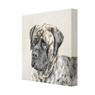 English Mastiff (Brindle) Painting - Original Dog Canvas Print