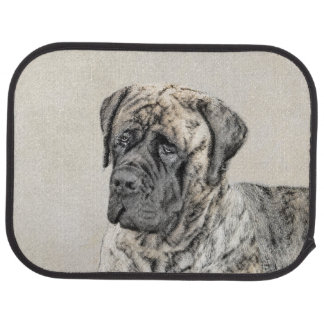 English Mastiff (Brindle) Painting - Original Dog Car Mat