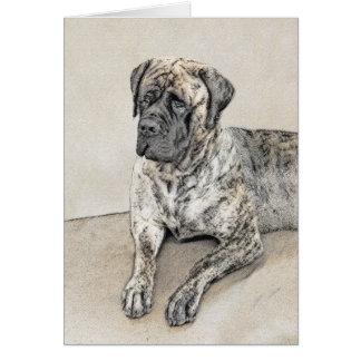English Mastiff (Brindle) Painting - Original Dog Card