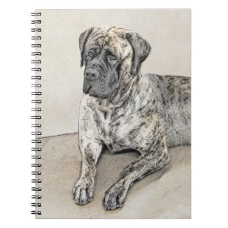 English Mastiff (Brindle) Painting - Original Dog Notebooks
