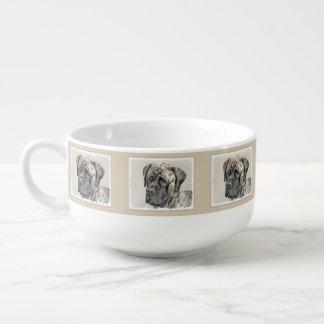 English Mastiff (Brindle) Painting - Original Dog Soup Mug