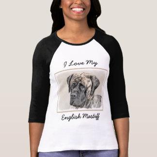 English Mastiff (Brindle) Painting - Original Dog T-Shirt