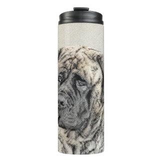 English Mastiff (Brindle) Painting - Original Dog Thermal Tumbler