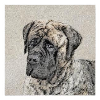 English Mastiff (Brindle) Poster
