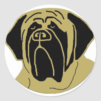 English Mastiff Classic Round Sticker