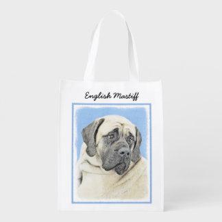 English Mastiff (Fawn) Reusable Grocery Bag