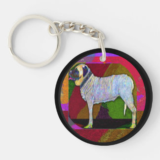 English Mastiff Large keychain