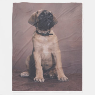 ENGLISH MASTIFF PUPPY FLEECE BLANKET
