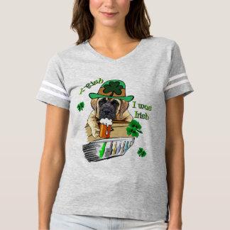 English Mastiff St Patricks T-shirt